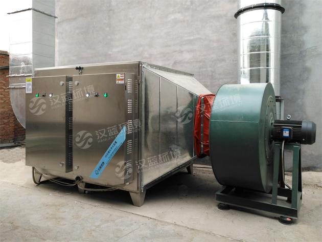河北汉蓝塑胶废气净化设备在某塑胶厂安装运行