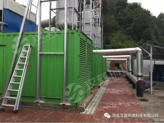 河北汉蓝万纯系列垃圾填埋沼气电站SCR烟气脱硝系统