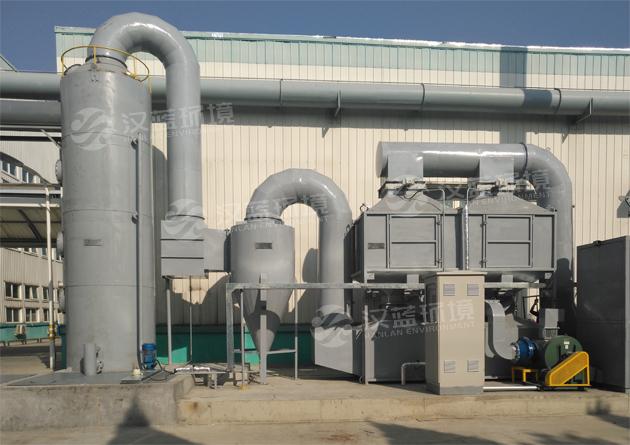 河北汉蓝注塑废气处理设备-活性炭吸附脱附+CO催化燃烧