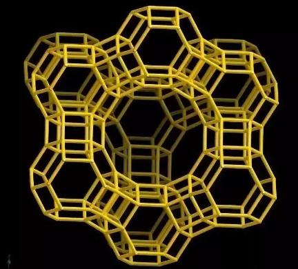 沸石分子筛结构示意图